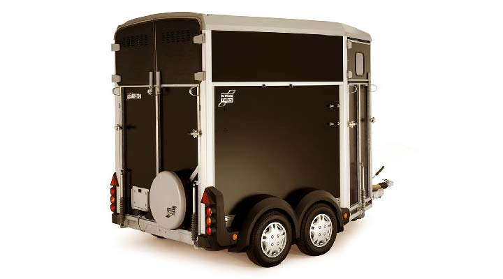 Black Ifor Williams Horsebox HB403